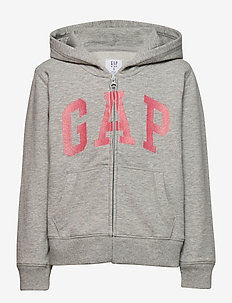IE FT BASIC ARCH FZ - hoodies - light heather grey b08