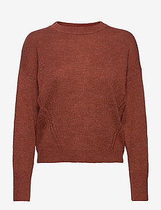 Dolman Crewneck Sweater - swetry - rusty 244