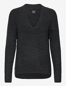 V-Neck Sweater - truien - charcoal grey