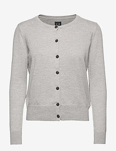 Button-Front Cardigan - gilets - med heather grey