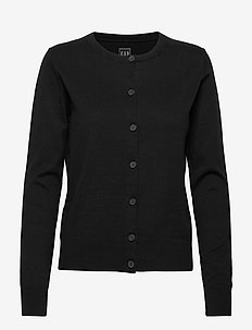 Button-Front Cardigan - gilets - true black