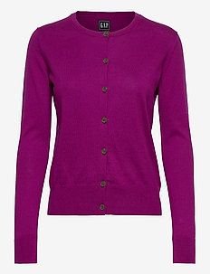 Button-Front Cardigan - cardigans - winter peony