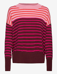 Easy Sweater - jumpers - burgundy stripe