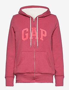 Gap Logo Sherpa Hoodie - hoodies - faded rose 559