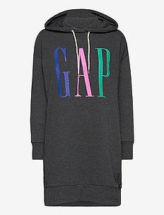 GAP LS HD DRESS - midi dresses - charcoal heather