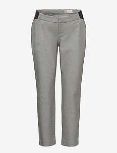 Maternity Inset Panel Slim Ankle Pants - slim fit spodnie - grey plaid
