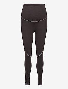 Maternity 7/8 Leggings in Sculpt Compression - leggings - soft black