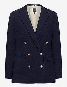 Double-Breasted Blazer - blazers - new navy