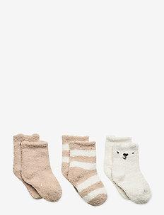 Baby Fuzzy Socks (3-Pack) - skarpetki - ivory frost
