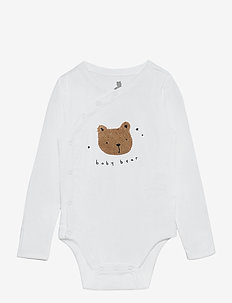 Baby Bear Kimono Bodysuit - długie rękawy - optic white