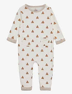 Baby Bear One-Piece - long-sleeved - ivory frost