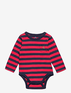 Baby Mix and Match Stripe Bodysuit - langärmelig - modern red 2