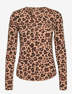 Feather T-Shirt - long-sleeved tops - leopard print