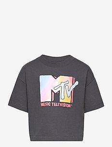 Teen Graphic Boxy T-Shirt - krótki rękaw - blue slate