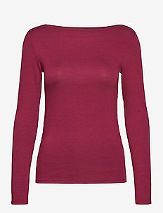 LS MOD BATEAU - long-sleeved tops - red delicious