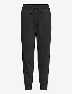 Soft Woven Joggers - casual trousers - true black