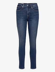 High Rise True Skinny Jeans with Secret Smoothing Pockets - skinny jeans - dark indigo v2