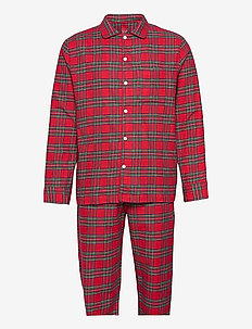 Flannel Pajama Set - pyjamas - red plaid