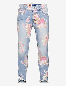 Kids Super Skinny Ankle Floral Print Jeans with Stretch - jeans - floral print