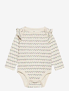 Baby Mix and Match Ruffle Bodysuit - langärmelig - ivory frost