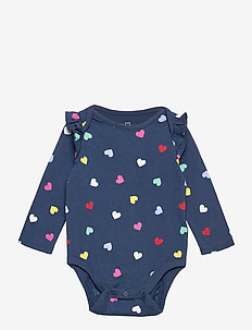 Baby Mix and Match Ruffle Bodysuit - langärmelig - night