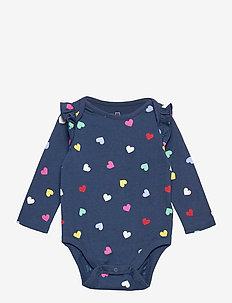 Baby Mix and Match Ruffle Bodysuit - långärmat - night