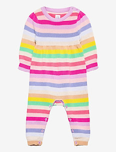 Baby Happy Stripe One-Piece - långärmade - multi stripe