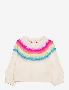 Baby Neon Rainbow Crewneck Sweater - gebreid - ivory frost