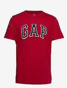 Logo Crewneck T-Shirt - LASALLE RED