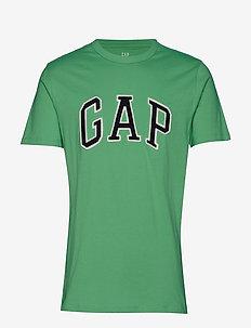 Logo Crewneck T-Shirt - PARROT GREEN 385