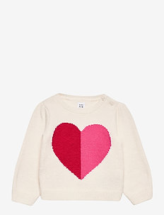 Baby Heart Crewneck Sweater - gebreid - ivory frost