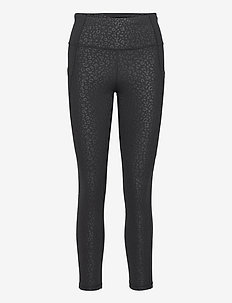 GapFit High Rise Blackout Full Length Leggings - running & training tights - leopard matte shine