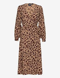 Wrap-Front Maxi Dress - wikkeljurken - leopard print