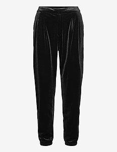 Velvet Joggers - casual trousers - true black