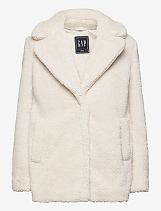 Sherpa Teddy Jacket - faux fur - ivory