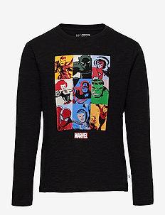 GapKids   Marvel Graphic T-Shirt - langärmelige - true black