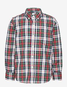 Kids Plaid Oxford Shirt - skjortor - red/ white plaid