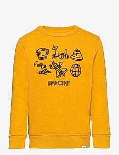 Kids Recycled Graphic Crewneck Sweatshirt - sweatshirts - rugby gold