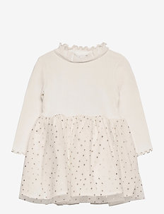 Toddler Mix-Media Dress - kleider - ivory frost