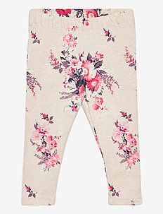 Toddler Mix and Match Graphic Leggings - leggings - oatmeal floral