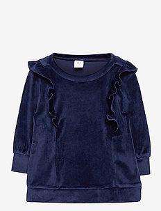 Toddler Velour Tunic Shirt - sweatshirts - navy uniform v2