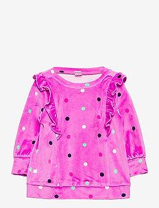 Toddler Velour Tunic Shirt - sweatshirts - purple dot