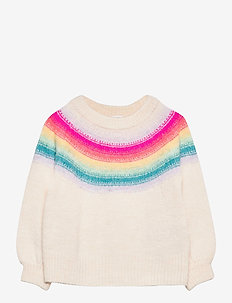Toddler Rainbow Crewneck Sweater - gebreid - rainbow strpe-wkp458sm