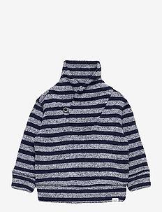 Toddler Fleece Sweater - gebreid - navy stripe