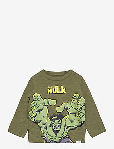 babyGap | Marvel Graphic T-Shirt - langärmelige - army jacket green