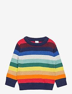 Toddler Happy Stripe Crewneck Sweater - gebreid - warm stripe