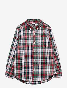 Toddler Poplin Print Shirt - skjortor - family plaid