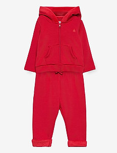 Baby Cozy Outfit Set - joggingset - fr modern red