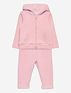 Baby Cozy Outfit Set - joggingset - misty rose