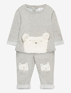 Baby Bear Cozy Outfit Set - 2-delige sets - b10 grey heather